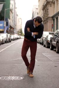 Burgundy Men's Clothing